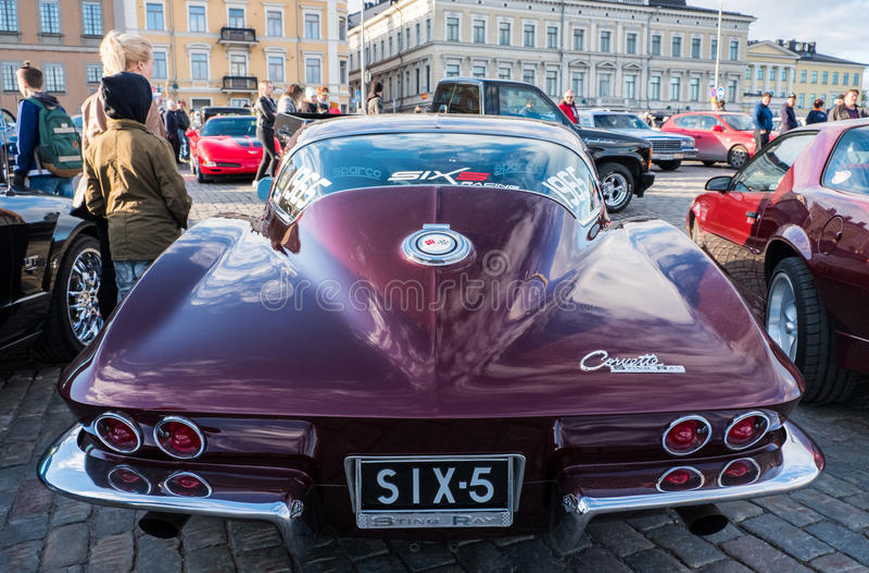 Παλαιός Chevrolet δρόμωνας Stingray του Ελσίνκι, Φινλανδία στοκ φωτογραφία με δικαίωμα ελεύθερης χρήσης