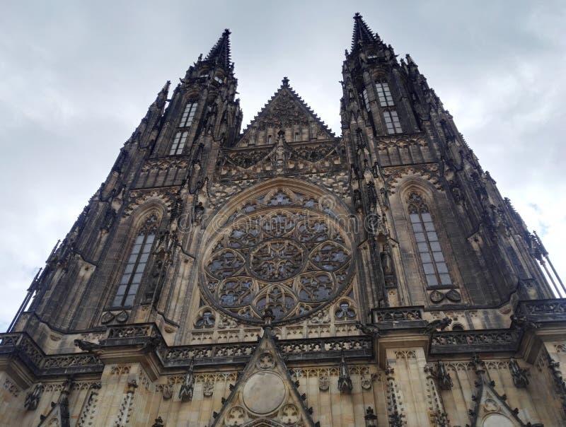 Παλαιός gothical καθεδρικός ναός Αγίου Vitus στο κάστρο της Πράγας στοκ φωτογραφία με δικαίωμα ελεύθερης χρήσης