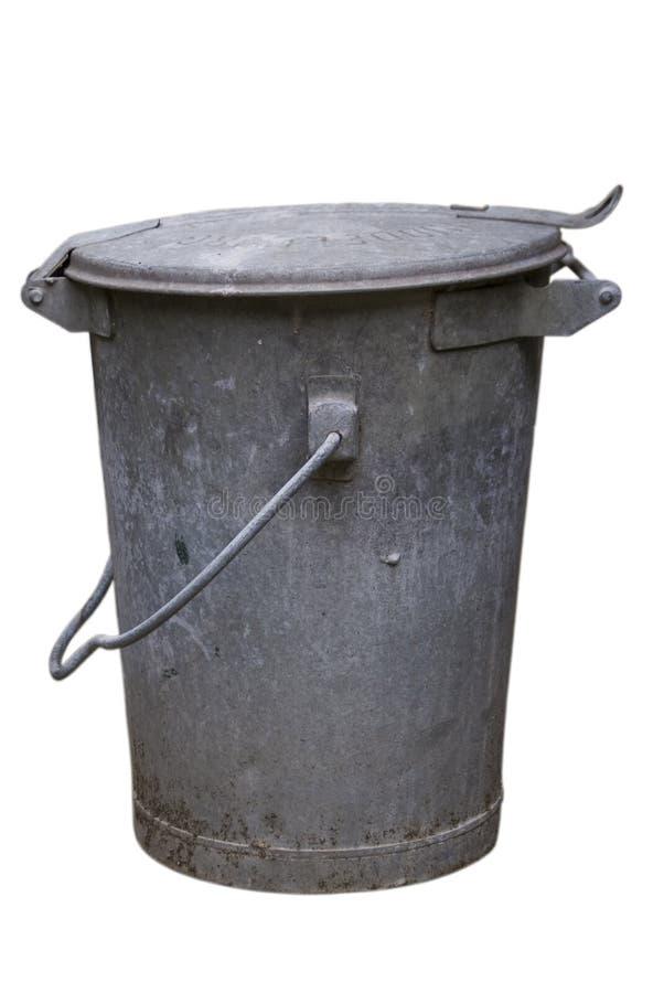 παλαιός trashcan μετάλλων στοκ φωτογραφία