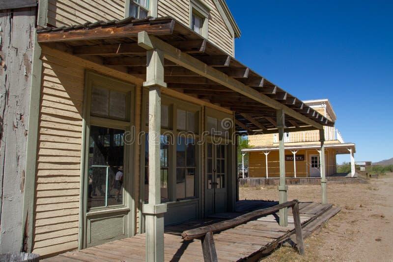 Παλαιό άγριο σκηνικό κινηματογράφου δυτικών πόλεων στην Αριζόνα στοκ εικόνες με δικαίωμα ελεύθερης χρήσης