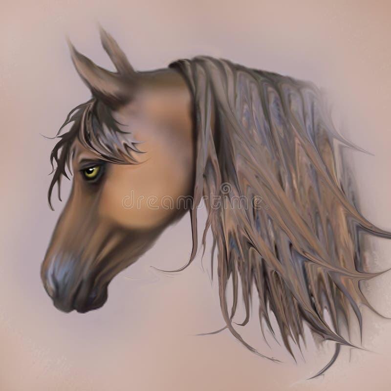 Παλαιό άλογο κουρασμένων shabby καφετί και χαλκού στοκ φωτογραφίες με δικαίωμα ελεύθερης χρήσης