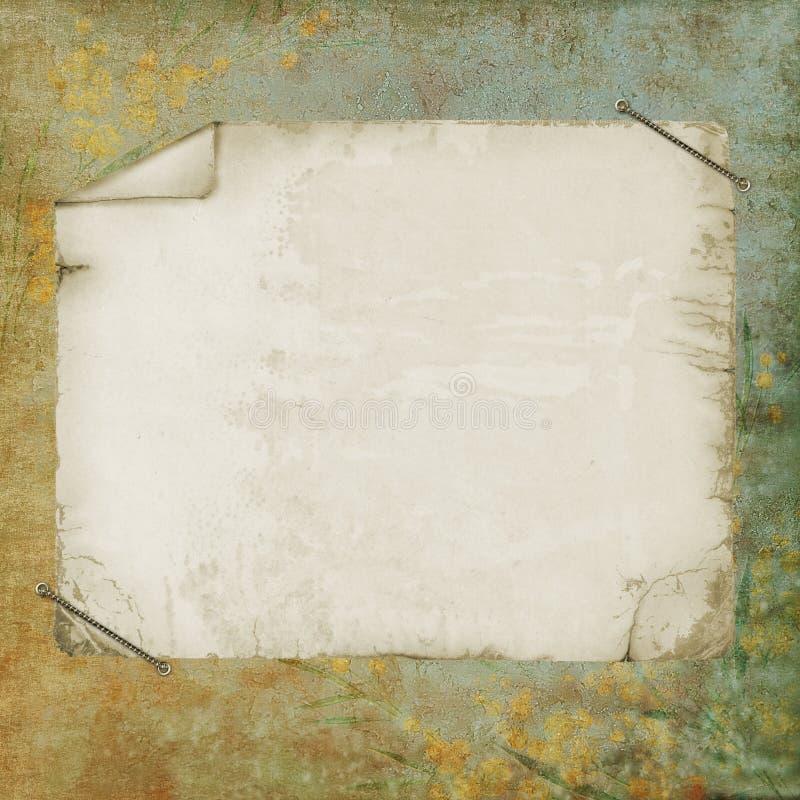 παλαιό έγγραφο ανασκόπηση διανυσματική απεικόνιση