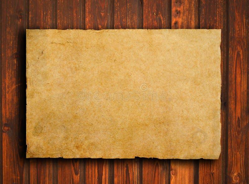 Παλαιό έγγραφο για την καφετιά ξύλινη σύσταση με το φυσικό patte στοκ εικόνες