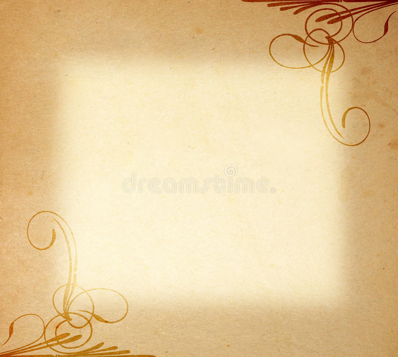 παλαιό έγγραφο διακοσμήσεων πλαισίων στοκ εικόνες