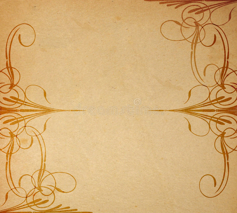 παλαιό έγγραφο διακοσμή&sigma διανυσματική απεικόνιση
