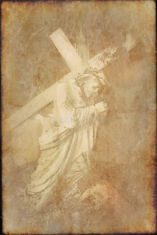 Παλαιό έγγραφο με την εικόνα Χριστού στοκ φωτογραφία