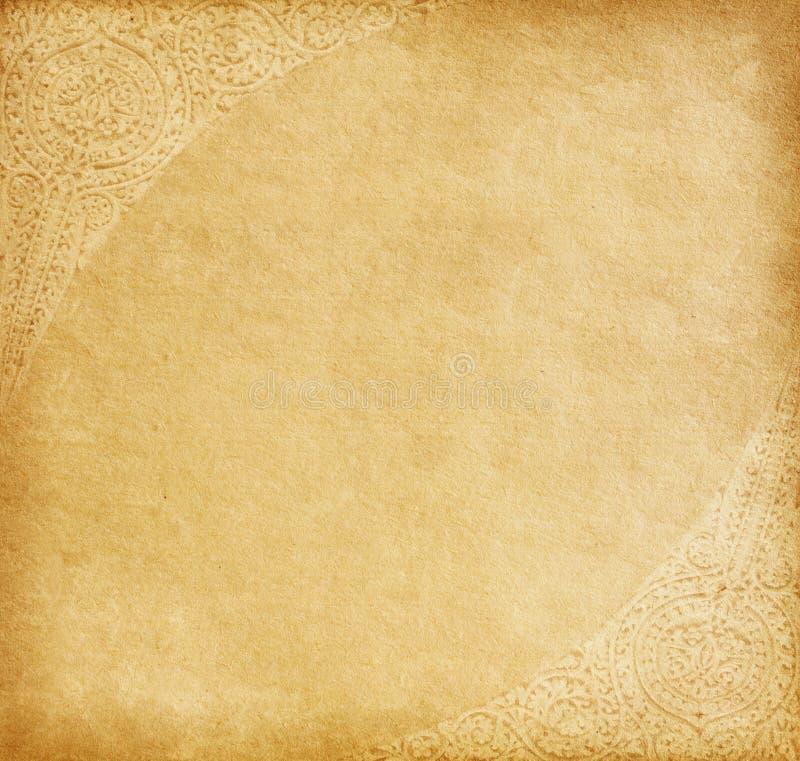 Παλαιό έγγραφο με τη διακόσμηση στοκ εικόνες