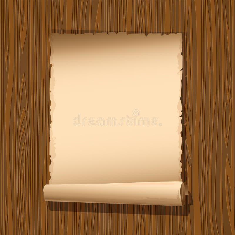 Download παλαιό έγγραφο ξύλινο διανυσματική απεικόνιση. εικονογραφία από κατάλογος - 22789429