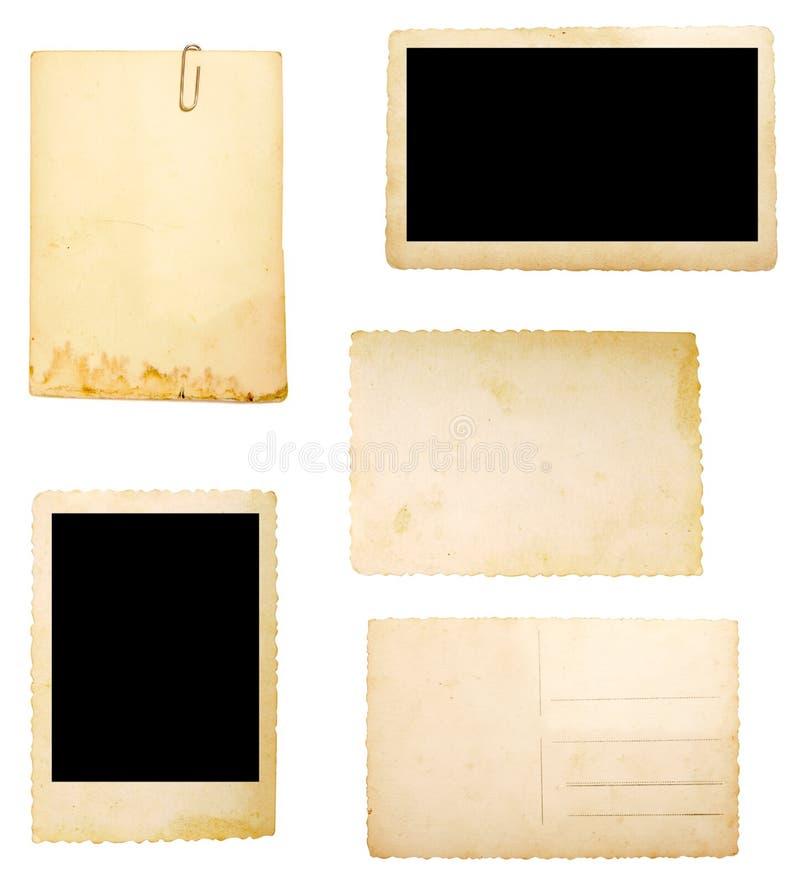 παλαιό έγγραφο σημειώσε&omega στοκ εικόνες