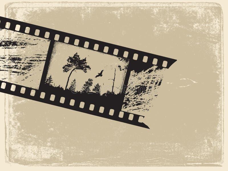 παλαιό έγγραφο ταινιών απεικόνιση αποθεμάτων