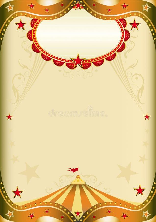 παλαιό έγγραφο τσίρκων διανυσματική απεικόνιση