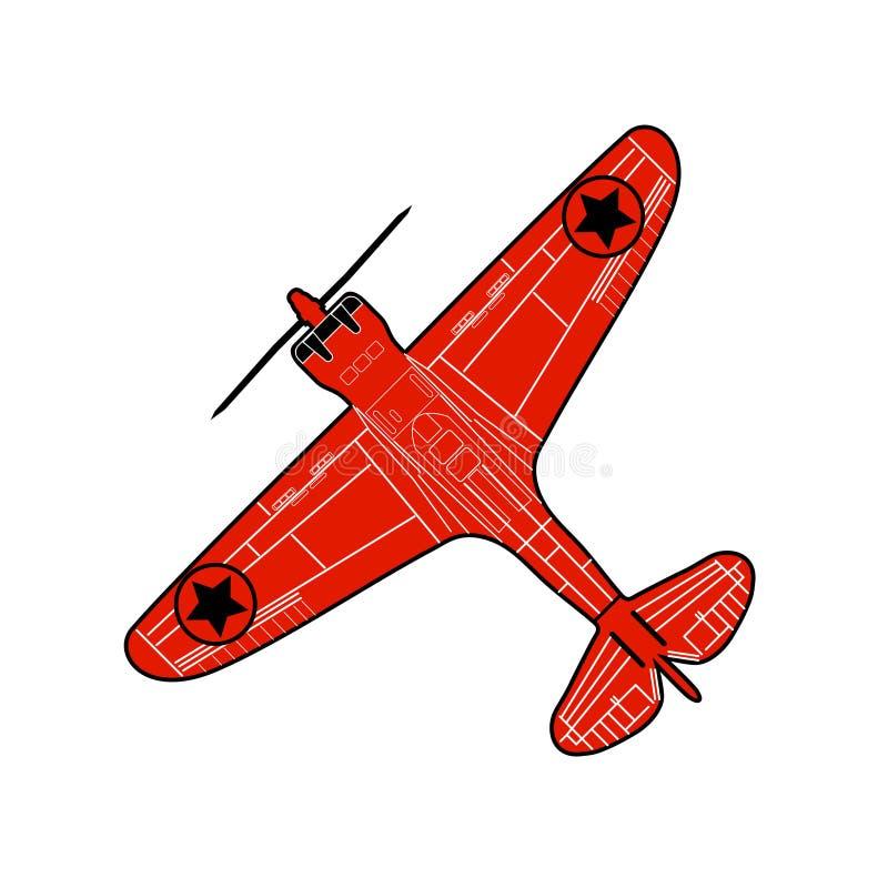 Παλαιό αεροπλάνο ακροβατικής επίδειξης απεικόνιση αποθεμάτων