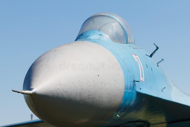 παλαιό αεροπλάνο μαχητών σοβιετικό Πιλοτήριο λεπτομέρειας των αεροσκαφών αγώνα στοκ φωτογραφία