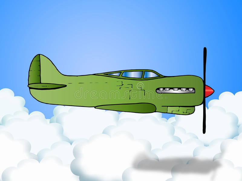παλαιό αεροπλάνο πολεμ&iota διανυσματική απεικόνιση