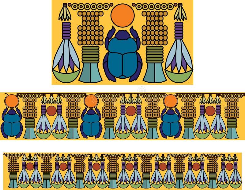 παλαιό αιγυπτιακό πρότυπ&omicro ελεύθερη απεικόνιση δικαιώματος