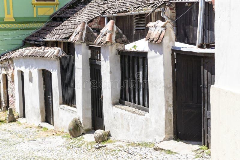 Παλαιό αρχαίο σπίτι Sighisoara στοκ εικόνες