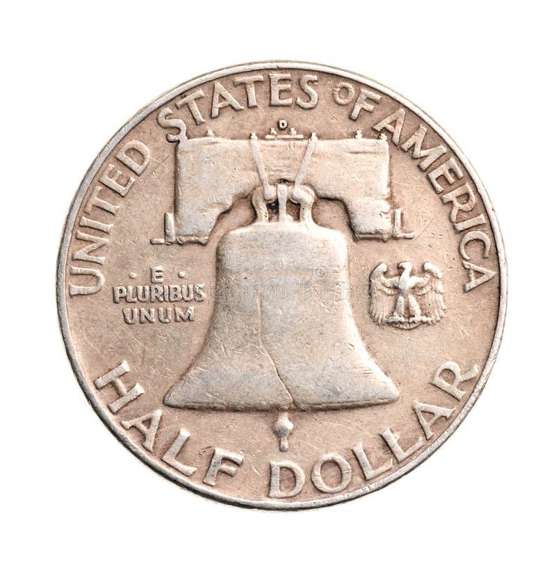 παλαιό ασήμι δολαρίων κατά  στοκ εικόνα με δικαίωμα ελεύθερης χρήσης