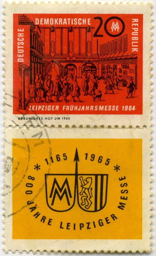 Παλαιό γερμανικό γραμματόσημο στοκ φωτογραφίες