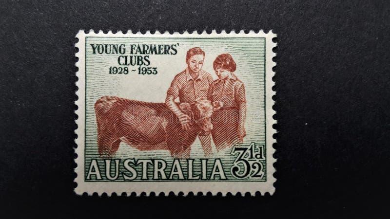 Παλαιό γραμματόσημο Αυστραλία Νέα λέσχη αγροτών στοκ εικόνες με δικαίωμα ελεύθερης χρήσης