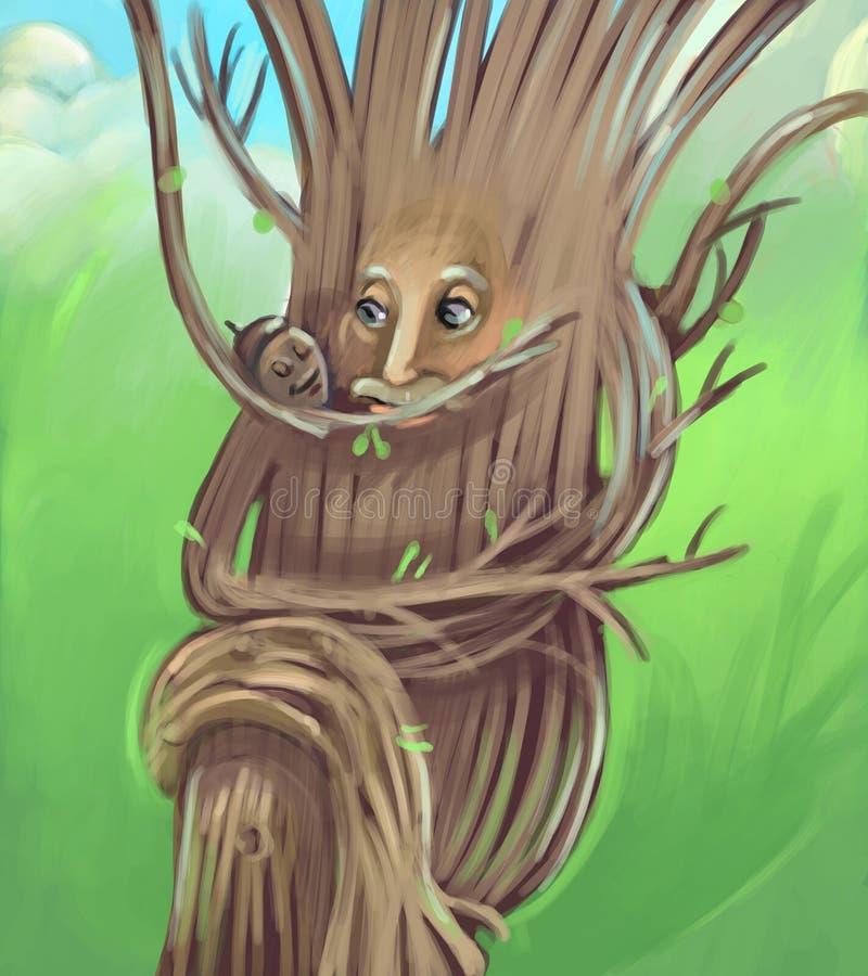 παλαιό δέντρο ελεύθερη απεικόνιση δικαιώματος