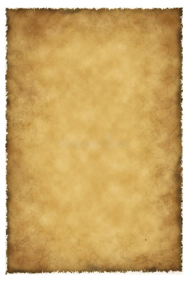 παλαιό δέρμα περγαμηνής αρν διανυσματική απεικόνιση