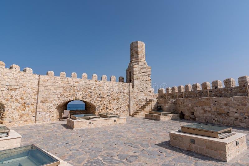 Παλαιό ενετικό φρούριο Koules στην πόλη Ηρακλείου, Κρήτη Κορυφή β στοκ εικόνα με δικαίωμα ελεύθερης χρήσης