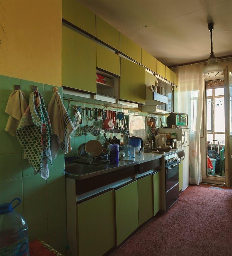 Παλαιό εσωτερικό κουζινών στοκ εικόνες με δικαίωμα ελεύθερης χρήσης