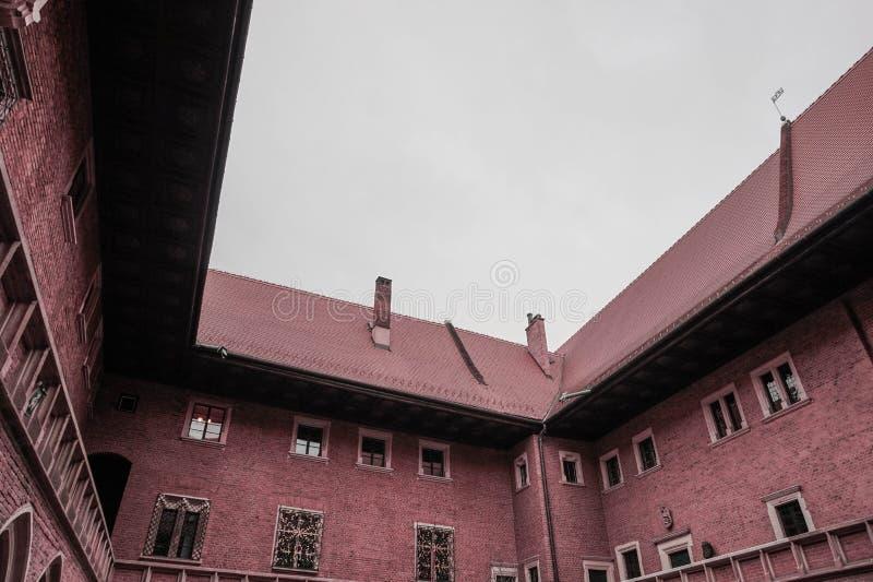 Παλαιό, ηλικίας κτήριο στην καρδιά της Κρακοβίας, Πολωνία στοκ εικόνες με δικαίωμα ελεύθερης χρήσης