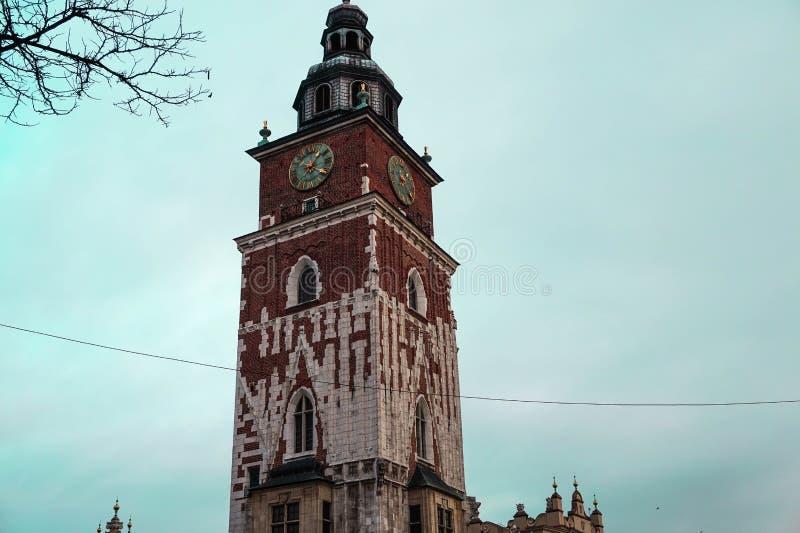 Παλαιό, ηλικίας κτήριο στην καρδιά της Κρακοβίας, Πολωνία στοκ φωτογραφία με δικαίωμα ελεύθερης χρήσης