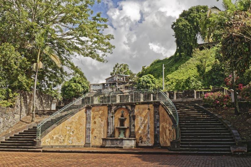 Παλαιό θέατρο - Saint-Pierre - Μαρτινίκα - FWI στοκ εικόνες