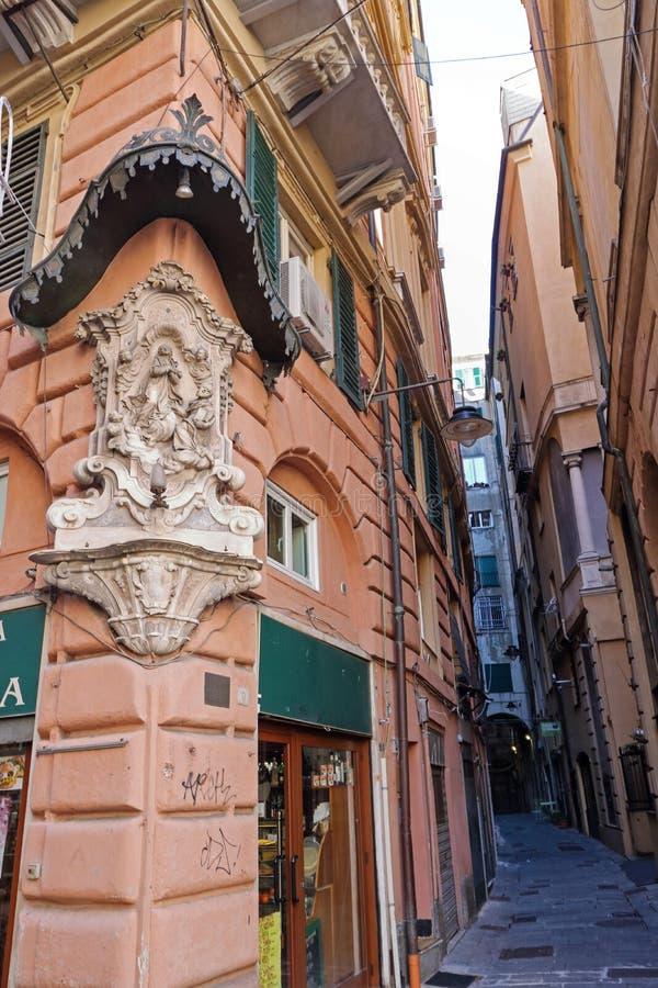Παλαιό κέντρο της Γένοβας στοκ εικόνες