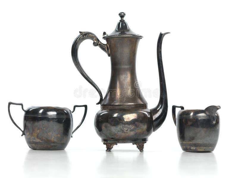 παλαιό καθορισμένο τσάι στοκ φωτογραφίες με δικαίωμα ελεύθερης χρήσης