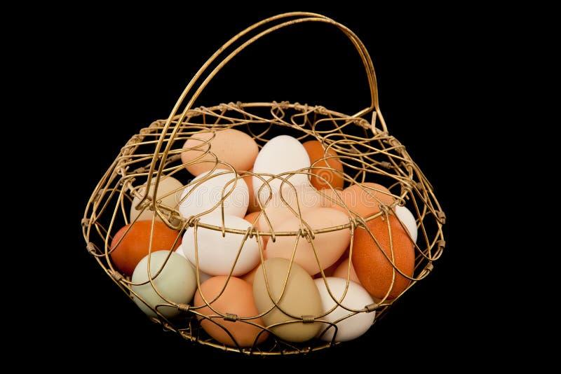 παλαιό καλώδιο αυγών καλαθιών στοκ εικόνες