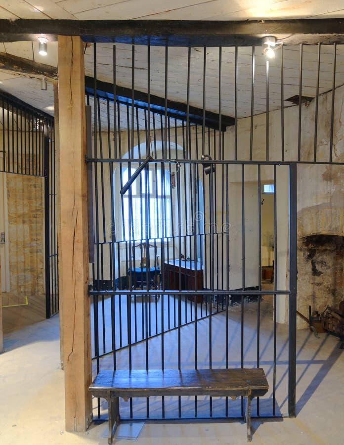 Παλαιό κελί φυλακής στην Οξφόρδη, Αγγλία στοκ φωτογραφία