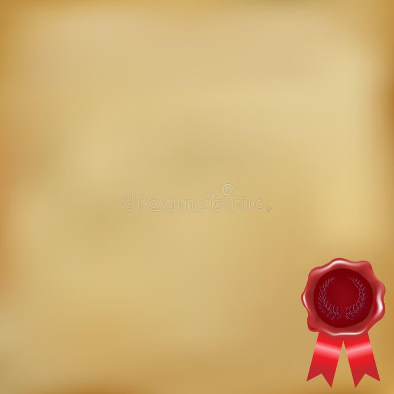 παλαιό κερί σφραγίδων εγ&gamma διανυσματική απεικόνιση
