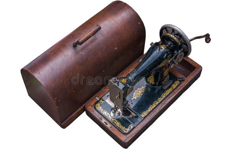 Παλαιό κιβώτιο ράβοντας μηχανών και αποθήκευσης στοκ φωτογραφία με δικαίωμα ελεύθερης χρήσης