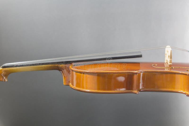 Παλαιό κλασικό ξύλινο βιολί λεπτομερές στοκ φωτογραφίες