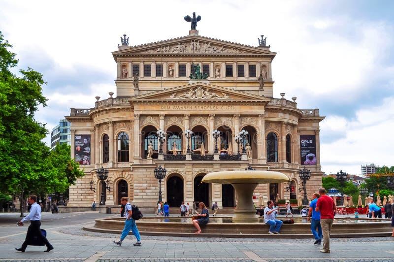 Παλαιό κτήριο οπερών Oper Alte στη Φρανκφούρτη Αμ Μάιν, Γερμανία στοκ φωτογραφίες με δικαίωμα ελεύθερης χρήσης