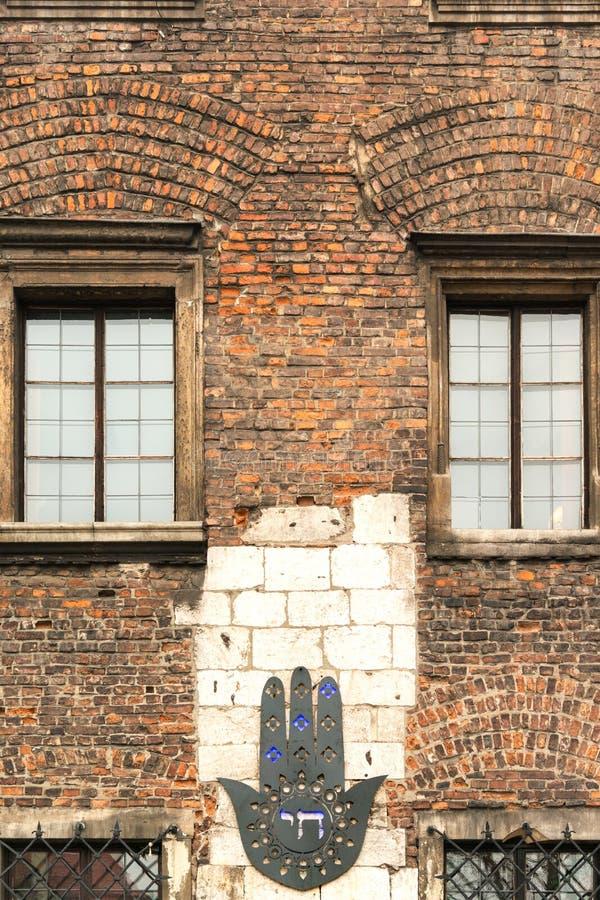 Παλαιό κτήριο σε εβραϊκό Kazimierz στοκ εικόνα