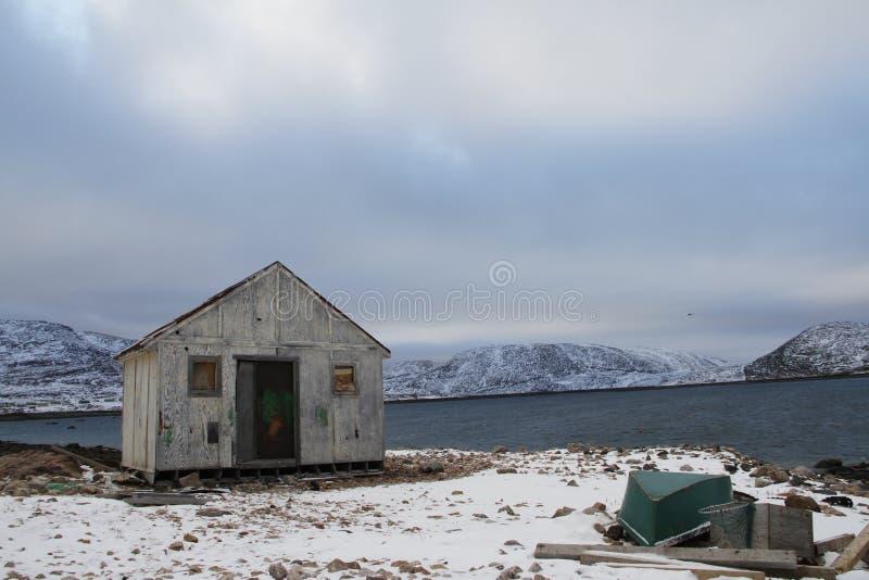 Παλαιό κτήριο στο ακρωτήριο Dorset, Nunavut στοκ φωτογραφία με δικαίωμα ελεύθερης χρήσης