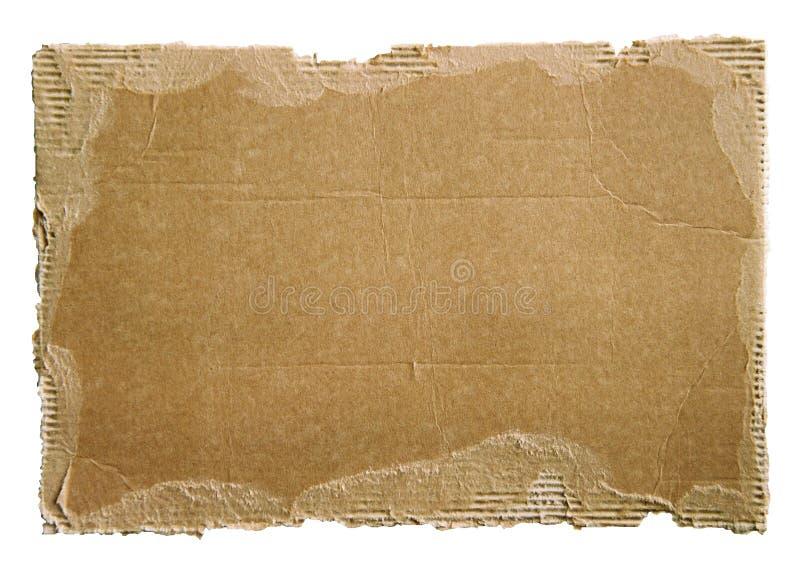 παλαιό λευκό απορρίματος χαρτονιού στοκ εικόνες