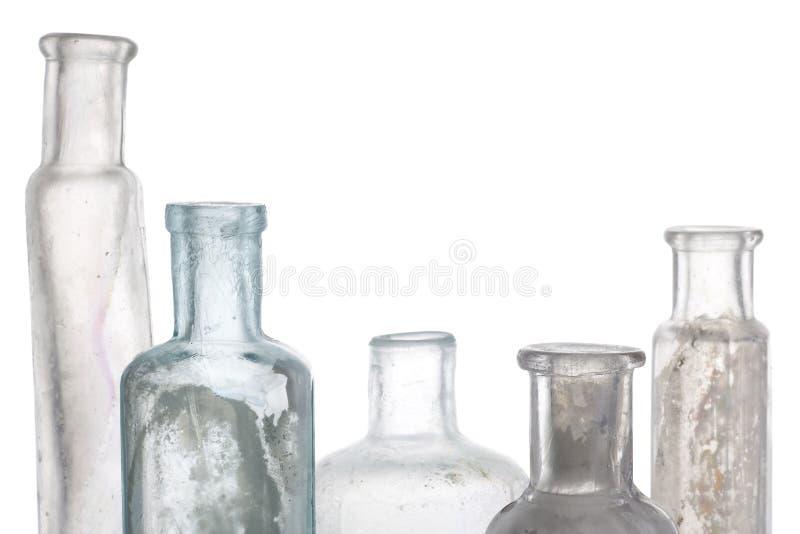 παλαιό λευκό μπουκαλιών στοκ εικόνες με δικαίωμα ελεύθερης χρήσης