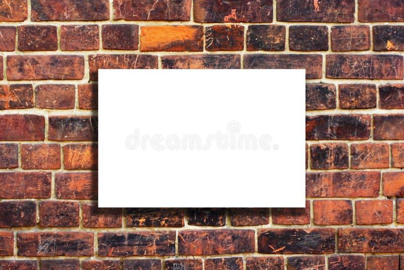 παλαιό λευκό τοίχων καμβά τούβλου στοκ εικόνα