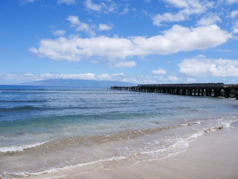 Παλαιό λιμάνι στην παραλία μωρών, Lahaina, Maui, Χαβάη στοκ εικόνες