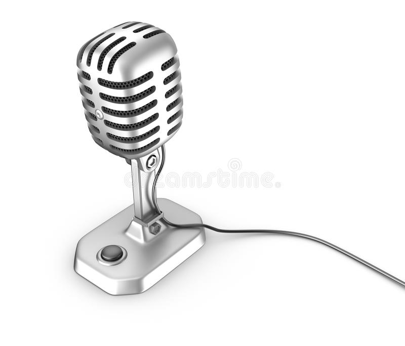 Παλαιό μικρόφωνο ύφους απεικόνιση αποθεμάτων