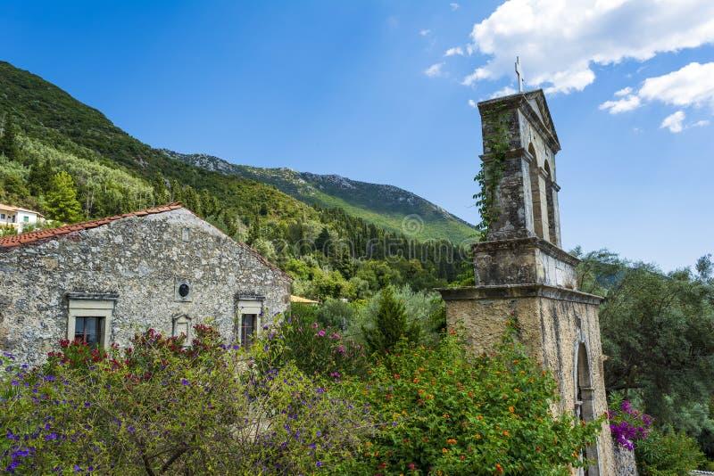 Παλαιό μοναστήρι στη Λευκάδα στοκ φωτογραφίες με δικαίωμα ελεύθερης χρήσης