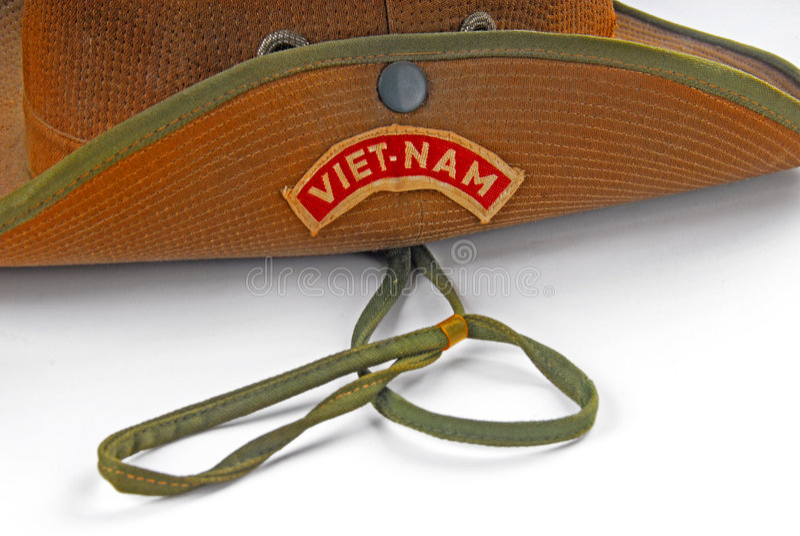 παλαιό μπάλωμα Βιετνάμ καπέ&lamb στοκ φωτογραφίες