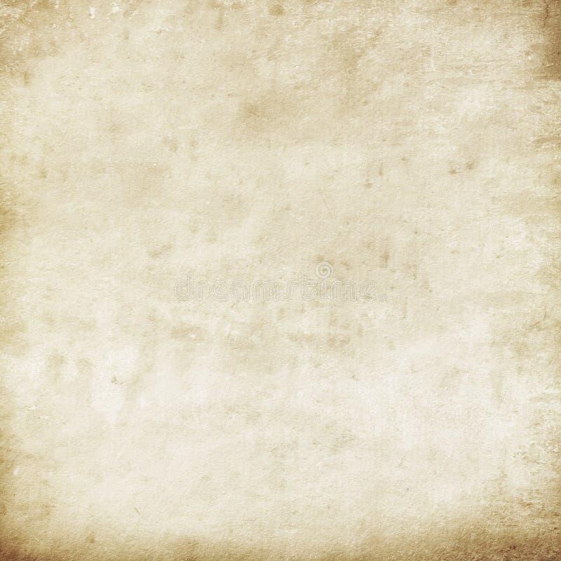 Παλαιό μπεζ έγγραφο σύστασης Grunge, σχέδιο, αναδρομικό, τρύγος απεικόνιση αποθεμάτων