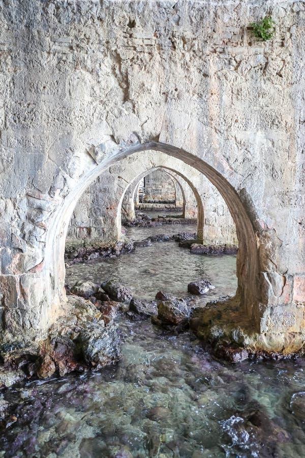 Παλαιό ναυπηγείο Alanya στην πόλη Alanya, Antalya, Τουρκία στοκ φωτογραφία