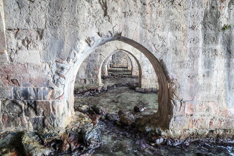 Παλαιό ναυπηγείο Alanya στην πόλη Alanya, Antalya, Τουρκία στοκ εικόνα